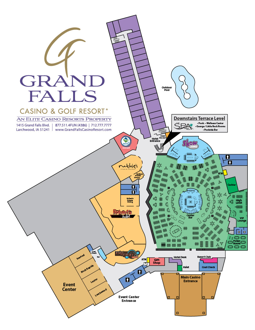 Grand Falls Casino & Golf Resort Map
